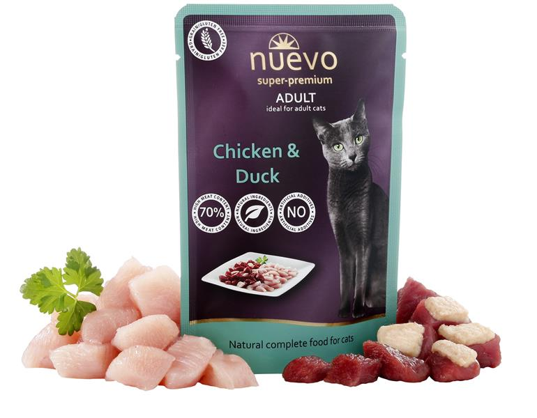 NUEVO cat Adult Chicken & Duck 85 g kapsička
