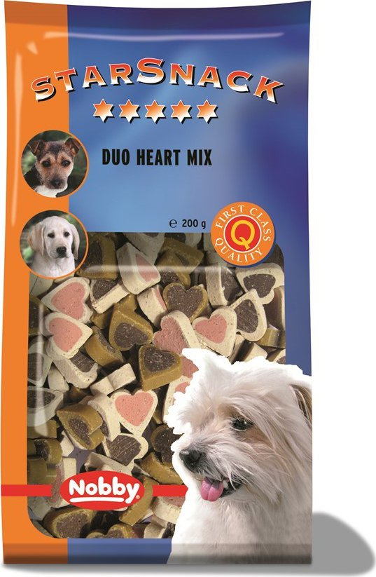 Nobby StarSnack Duo Heart Mix 200g