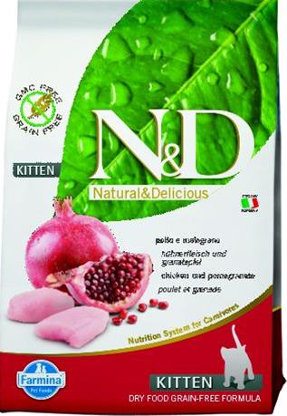 Farmina N&D cat GF kitten chicken&pomegranate 10kg